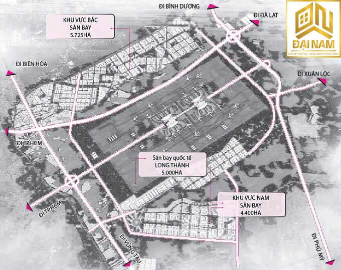 Sơ đồ quy hoạch sân bay quốc tế Long Thành