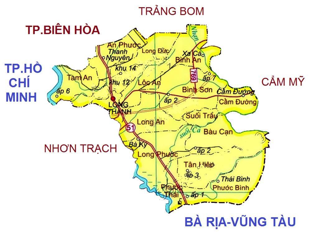 Vị trí địa lý của xã Bàu Cạn - Long Thành - Đồng Nai
